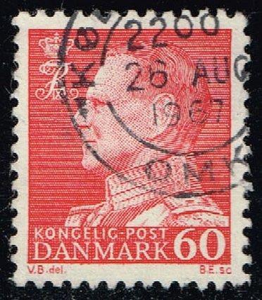 Denmark #439 King Frederik IX (non-fluor); Used (0.25) (3Stars) |DEN0439ord-09