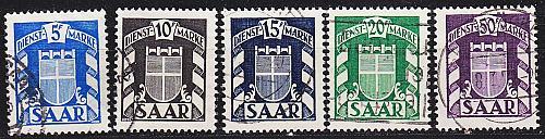 GERMANY Saar [Dienst] MiNr 0033 ex ( O/used ) [01]