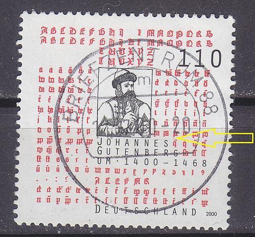 GERMANY BUND [2000] MiNr 2098 PF I ( O/used ) [01] Plattenfehler