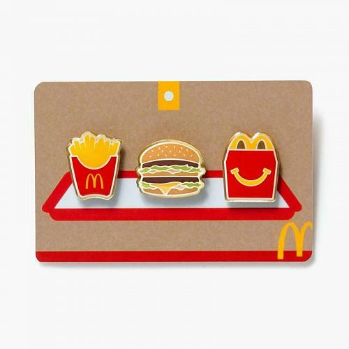New Limited McDonald's Meal Pin Set Fast Free Shipping World Famous Fries