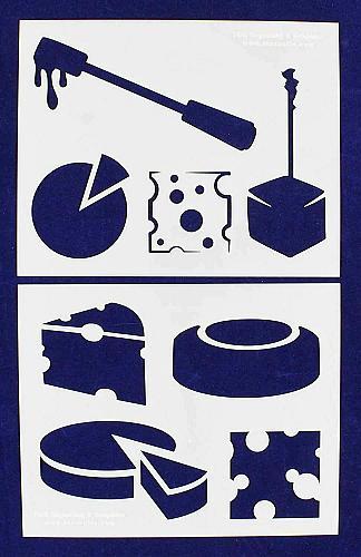 Cheese Stencils-2 Pc Set - 14 Mil Mylar