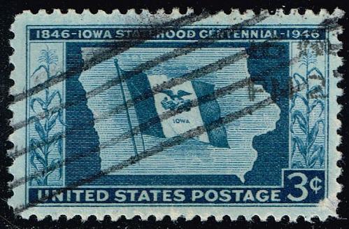 US #942 Iowa Statehood; Used (1Stars) |USA0942-02