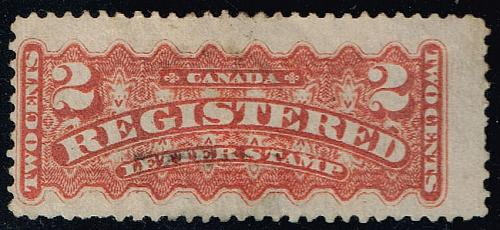 Canada #F1 Registration Stamp; Used (2Stars) |CANF1-01XRP