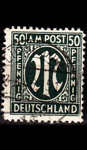 GERMANY Alliiert AmBri [1945] MiNr 0032 b A ( O/used )