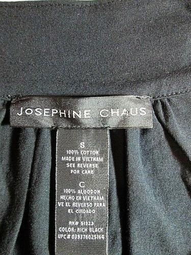 JOSEPHINE CHAUS womens Small SLEEVELESS GOLD STUDS BLACK TOP BLOUSE (E)M