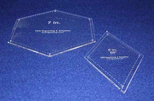 "Hexagon/Diamond Set - 2 Piece Specialty- -1/8""-Quilt Templates-"
