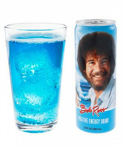 SEALED Bob Ross The Joy of Painting Set 6 Positive Energy Drinks Can Free Ship