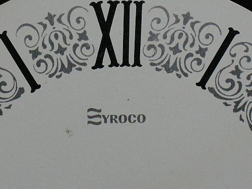 Vintage Clock Face Syroco 6 inch Mantle Grandfather Wall Repair Parts USA made
