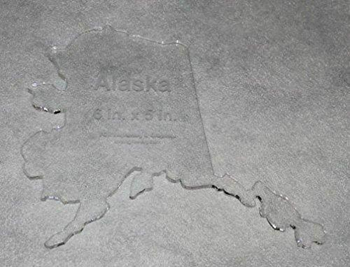 """State of Alaska Template 6"""" X 5"""" - Clear ~1/4"""" Thick Acrylic"""