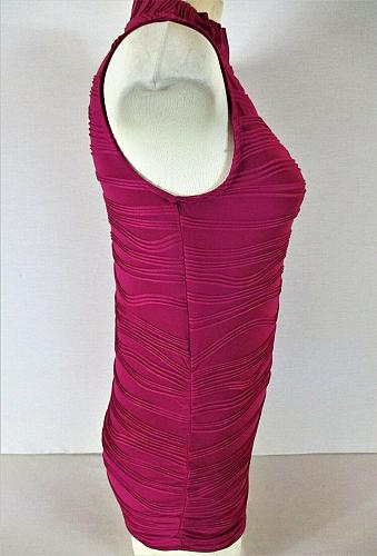 THE LIMITED womens Small sleeveless pink TEXTURED stretch top (C3)
