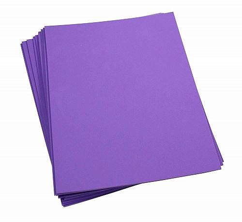 """Craft Foam -9"""" x 12"""" Sheets-Purple-10 Pack- 2mm thick"""