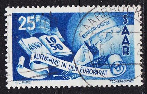 GERMANY Saar [1950] MiNr 0297 ( O/used )