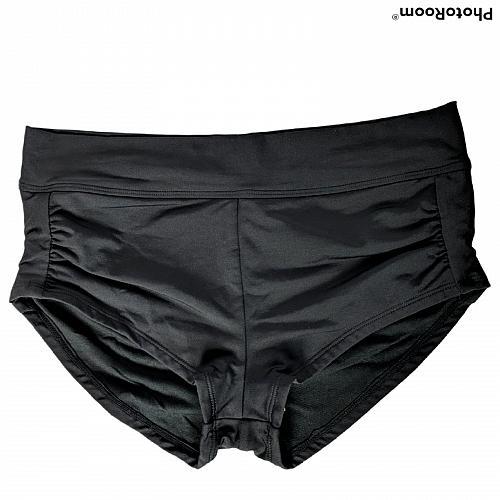 NWT Kona Sol Womens Shortie Swim Shorts Size Small Medium Coverage Black Stretch