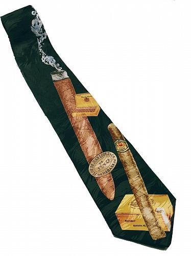 Smoking Havana Cuban Cigar Men's Necktie Novelty Juan Lopez