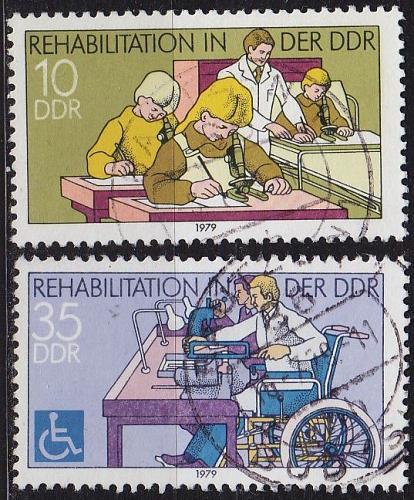 GERMANY DDR [1979] MiNr 2431-32 ( OO/used )