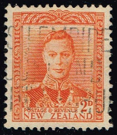 New Zealand #258 King George VI; Used (3Stars) |NWZ0258-02