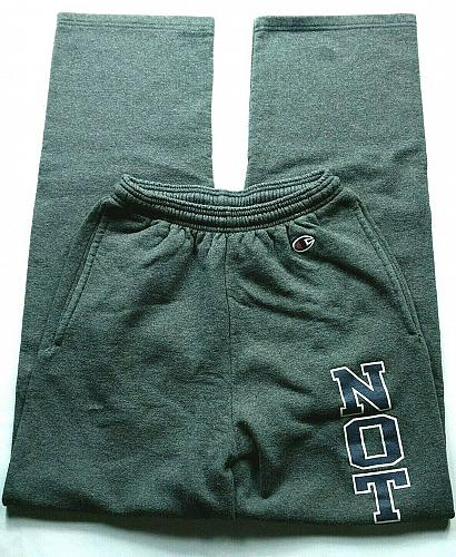 Champion Women's Notre Dame University Spell Out Size XS Stretch Gray Drawstring