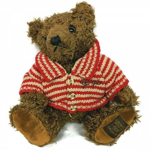 """Giorgio Beverly Hills Collectors Teddy Bear with Striped Sweater 1996 12"""""""