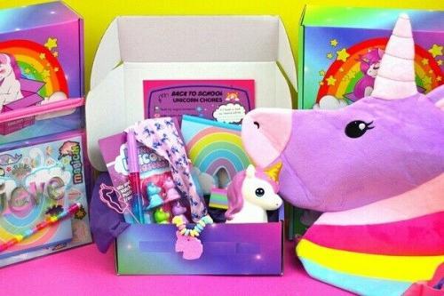Unicorn fans kit gift set 4-6 items crate box Free Shipping