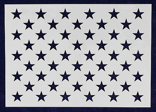 """8"""" x 11.29"""" G-Spec 50 Star Field Stencil -14 Mil -Painting /Crafts/ Templates"""