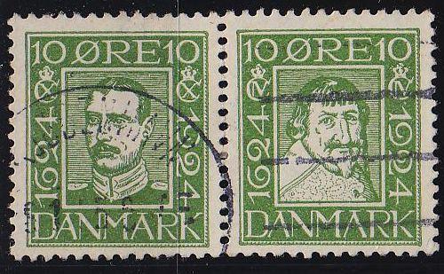 DÄNEMARK DANMARK [1924] MiNr 0140+37 ( O/used )