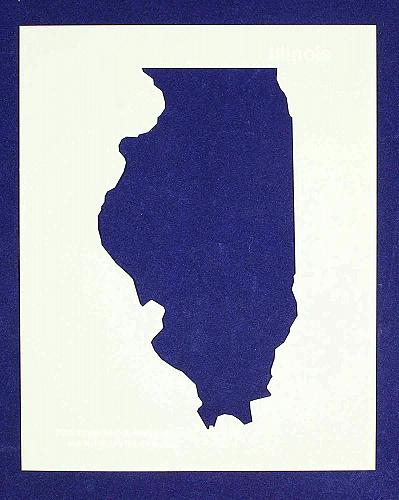 """State of Illinois Stencil 14 Mil 8"""" X 10"""" Painting /Crafts/ Templates"""