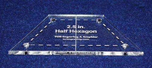"""Half Hexagon 2.5"""" with Seam, Center Guideline & Guide Holes-Quilt Templates-"""