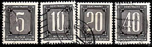 GERMANY DDR [Dienst B] MiNr 0001 ex ( OO/used ) [01]