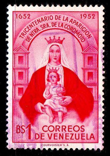 VENEZUELA [1952] MiNr 0834 ( O/used ) Religion