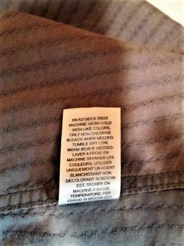 GUESS mens MARCIANO Medium L/S GRAY EMBROIDERED BUTTON DOWN SHIRT (F)