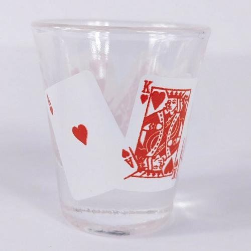 "Deck Of Cards Ace King Queen Jack Ten 2.25"" Collectible Shot Glass"