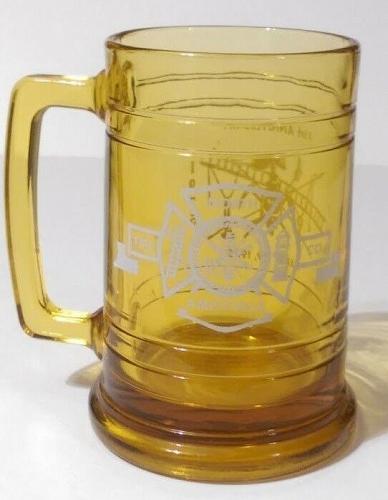 "North Amityville Fire Company 35th Anniversary 1975 5.25"" Collectible Mug Glass"