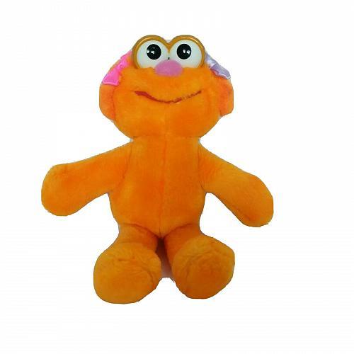 "Sesame Street Zoe Orange Tyco Jim Henson Plush Stuffed Animal 1995 9"""