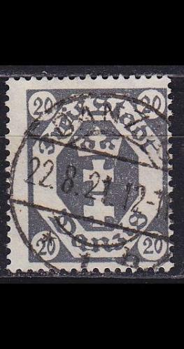 GERMANY REICH Danzig [1921] MiNr 0076 ( OO/used )