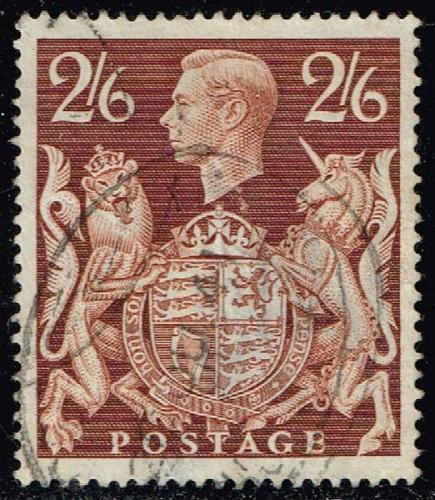Great Britain #249 King George VI & Royal Arms; Used (6.00) (0Stars) |GBR0249-04XRS