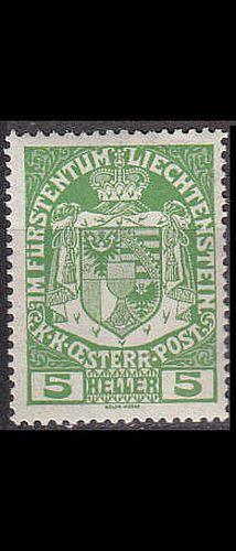 LIECHTENSTEIN [1917] MiNr 0005 ( **/mnh )