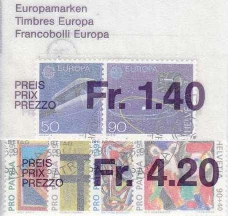 SCHWEIZ SWITZERLAND [1991] Jahr ex ( O/used ) [01]