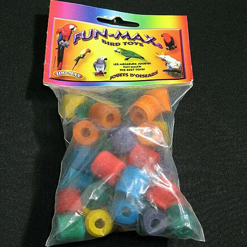 NEW Bird Toy Colored Wood Beads Zoo Max 48 non toxic color