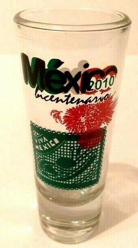 """Mexico Bicentario 2010 Viva Mexico 4"""" Collectible Shot Glass (5-83)"""