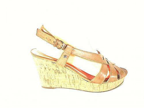 BOC Born Brown Strappy Gladiator Wedge Zip Heel Sandals Shoes Women's 8 M (SW17