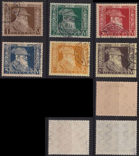 GERMANY Bayern Bavaria [1911] MiNr 0086-91 II ( O/used ) [01]
