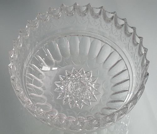 Mouth blown blank hand Cut & polished Glass bowl ABP