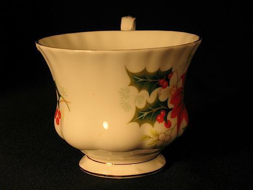 Vintage Teacup and Saucer Royal Albert Vintage Christmas Gilt Trim Yuletide