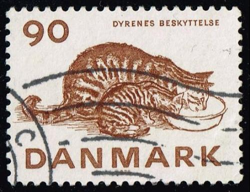 Denmark #582 Cats; Used (0.50) (4Stars) |DEN0582-02XBC