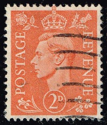 Great Britain #238 King George VI; Used (0.50) (3Stars)  GBR0238-04XRS