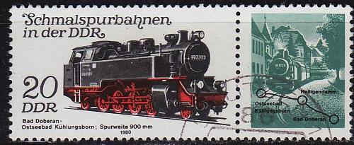 GERMANY DDR [1980] MiNr 2562 WZd481 ( OO/used ) Eisenbahn