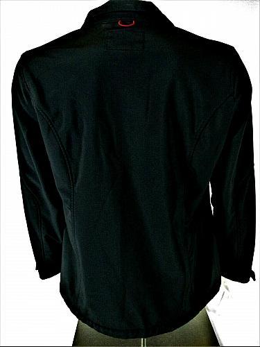 FALLS CREEK mens 1X L/S black red FULL ZIPPER 3 pocket fleece lined jacket (B9)