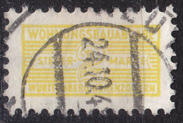 GERMANY Alliiert Franz. Zone [Württemberg] W 0003 a ( O/used ) Wohnungsbau