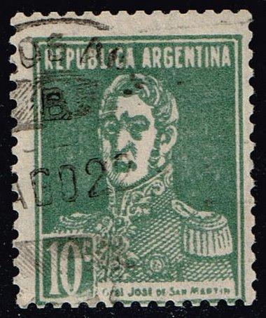 Argentina #346 Jose de San Martin; Used (0.50) (2Stars) |ARG0346a-01XBC