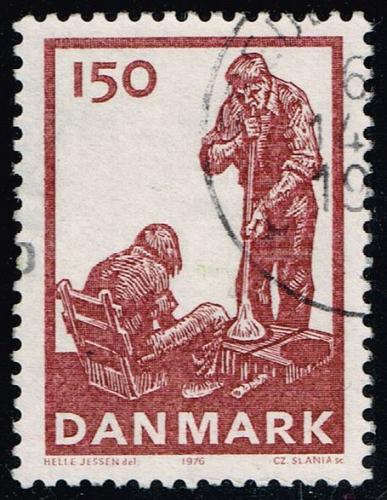Denmark #596 Glass Blowing; Used (4Stars) |DEN0596-01XBC